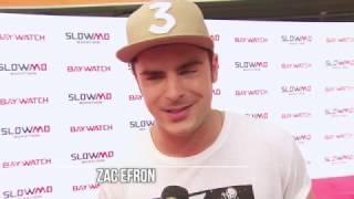 zac efron & kelly packard baywatch interview - Slow-Mo marathon