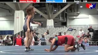 Jasmine Mendez vs. Teshya Alo at 2013 West Jr. Freestyle Regional