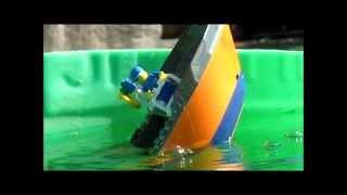 Lego Cargo ship sinking 3