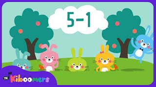 Five Little Bunnies Song for Kids | Easter Bunny Song | Nursery Rhymes | The Kiboomers