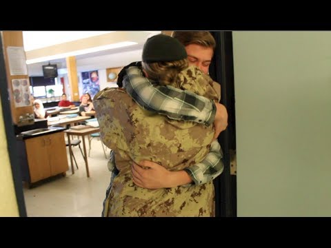 Xxx Mp4 Military Mom Surprises Son At School 3gp Sex