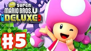 New Super Mario Bros U Deluxe - Gameplay Walkthrough Part 5 - Soda Jungle! (Nintendo Switch)