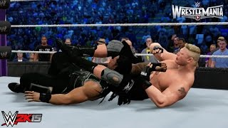 WWE 2K15 Wrestlemania 31 Main Event: Brock Lesnar vs Roman Reigns - WWE World Heavyweight Title!