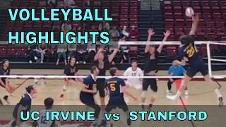 UC Irvine vs Stanford HIGHLIGHTS Men's Volleyball (3/31/17)