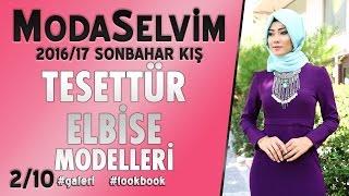 ModaSelvim 2016 2017 Sonbahar Kış Tesettür Elbise Moddelleri 2/10 | #Tesettür Elbise Modelleri