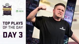 Madden 17 Best Plays of Day 3 | Madden Challenge 2017
