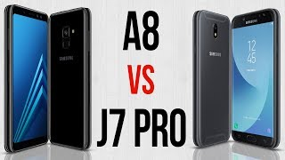 A8 vs J7 Pro (Comparativo em 3 minutos)