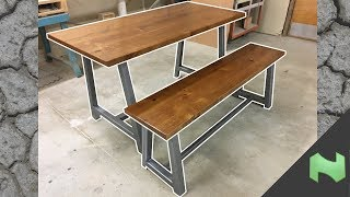 Making a metal/wood table and bench