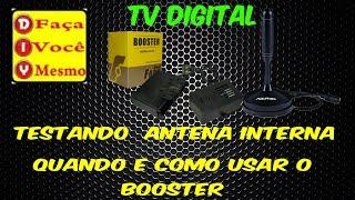 TV Digital - Quando Usar o Booster - Como Instalar um Booster