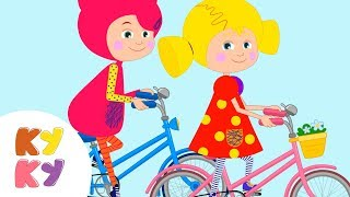 ВЕЛОСИПЕД - КУКУТИКИ - Развивающая веселая детская песенка мультик для детей малышей про велосипед