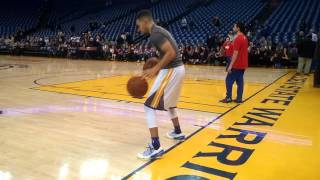 Entire Stephen Curry pregame dribbling routine