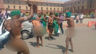 Tamil Nadu Farmers Stage Naked Protests Outside Prime Minister's Office