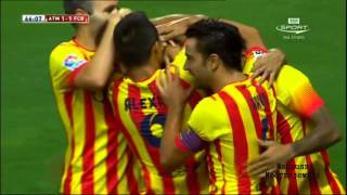 Atletico Madrid vs Barcelona 1 - 1 All Goals and Highlights [22.08.2013] [HD]