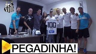 Zeca cai no doping, mas era pegadinha da Santos TV