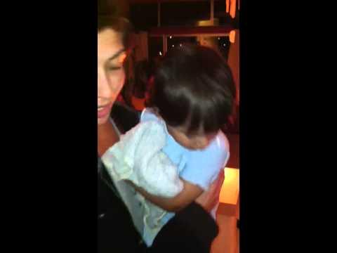 Kai dancing w aunty amel
