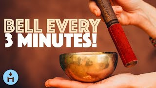 1 HOUR Reiki Music with Bell Every 3 Minutes (Reiki Timer and Healing Music for Reiki Treatment)