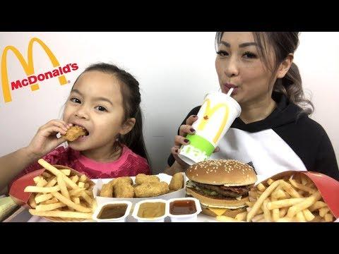 McDonald s Bacon BigMac & Nuggets Meal Mukbang N.E Lets Eat