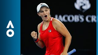 Ashleigh Barty v Camila Giorgi match highlights (2R) | Australian Open 2018