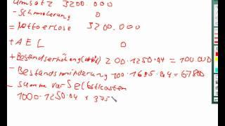 Kosten und Leistungsrechnung Aufgabe 39 d