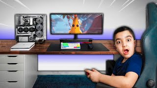 Surprising My Little Brother With A New Fortnite Gaming Setup! ($15000 GAMING SETUP!)