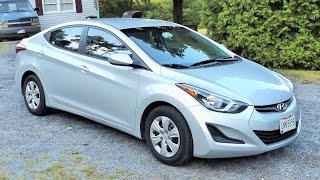 2016 Hyundai Elantra SE Start Up, Personal Review and Full Tour