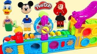 Disney LEGO Figures Play on Magical Play Doh Mega Fun Factory Playset!
