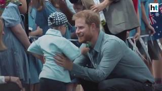 Watch: Kid can't resist stroking Prince Harry