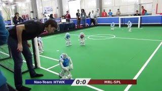 Nao-Team HTWK vs. MRL - Robocup Iran Open 2016