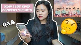 HOW I BUY KPOP CONCERT TICKETS // BTS LOVE YOURSELF TOUR