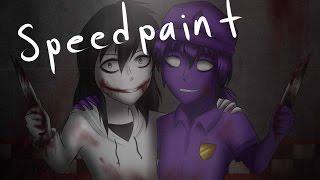 Speepaint Jeff the killer x Purple guy