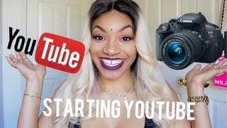 How to start a youtube channel | Camera , lights , Editing , getting paid
