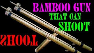HOW TO MAKE A POWERFUL BAMBOO GUN THAT CAN SHOOT || BY WEIRD VIEW