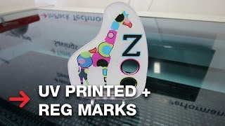 UV Printed Acrylic | Laser Cutting with Reg Marks | JobControl Vision