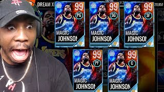 MAGIC+JOHNSON+PLAYING+EVERY+POSITION+%26+NEW+DREAM+MASTERS%21+NBA+Live+Mobile+18+Gameplay+Ep.+52