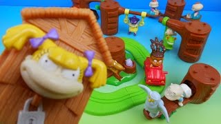 2000 NICKELODEON RUGRATS SET OF 8 BURGER KING KIDS MEAL TOYS VIDEO REVIEW w DRIVE THRU TOYS