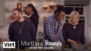 Wiz Khalifa & Seth Rogen Make Delicious Fried Chicken   Martha & Snoop's Potluck Dinner Party
