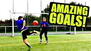 Football Goals & Freestyle Skills - SkillTwins ft. freekickerz ★
