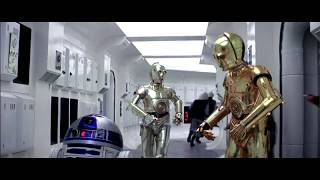 Rogue One Ending with C3PO and R2D2