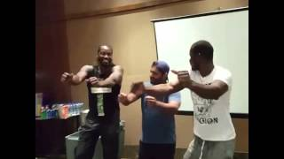 Gayle & Sammy giving dance lessons to Afghan WK