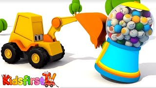 Cartoons for kids. Excavator Max and carousel. Domestic animals. Kids games and animation for kids.