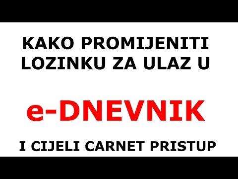 Kako promijeniti lozinku na e Dnevnik u Carnet pristup