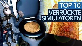 Die 10 absurdesten Simulatoren - Und ja, der KLOMANAGER ist auch dabei