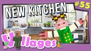 Minecraft: Villages - #55 - New Kitchen! (Modded Minecraft)