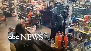 Mother and daughter in a violent shootout with an armed robbery
