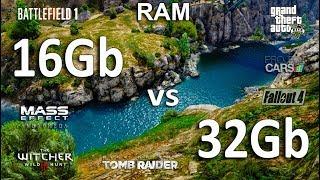 16Gb vs 32Gb RAM Test in 7 Games
