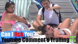Can I lick you? Public Trolling Prank
