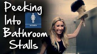 Bathroom Prank on Girls