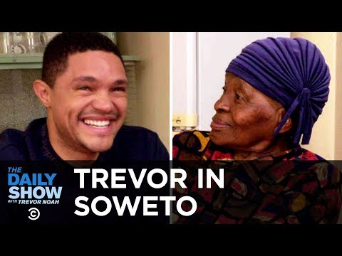 """Trevor Chats with His Grandma About Apartheid and Tours Her Home """"MTV Cribs"""" Style The Daily Show"""