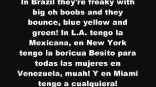 Pitbull ft Chris Brown - International Love [ Lyrics On Screen ] HD 2011