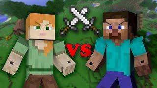 Alex VS Steve - Minecraft